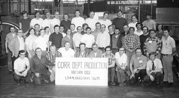 History, Green Bay Packaging, Production Department