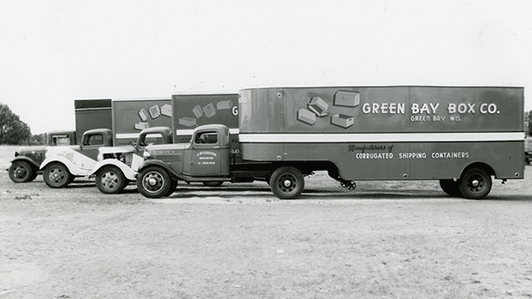 Historical Cardboard Delivery Vehicles, Green Bay Packaging