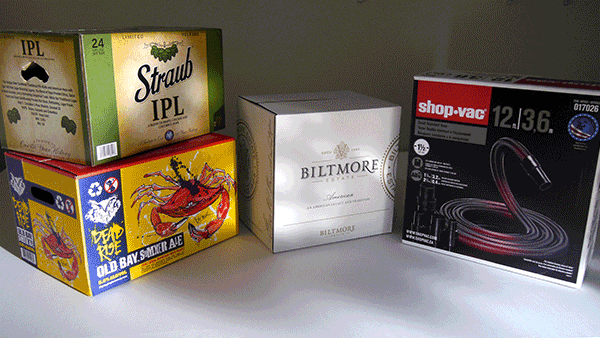 Various Cardboard Box Designs, Packaging